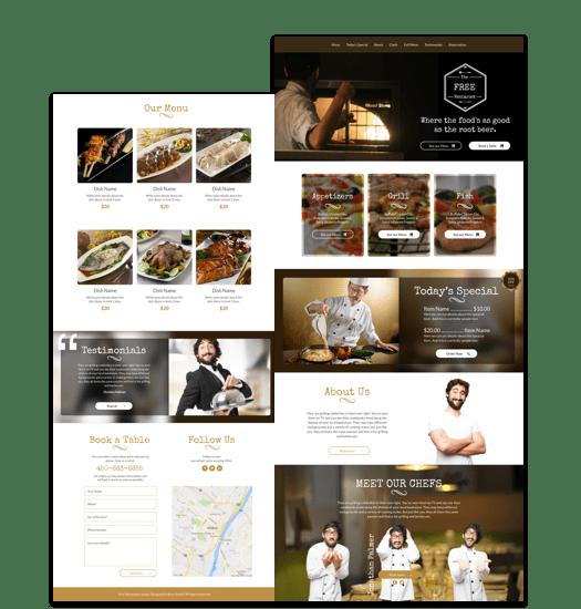 Crear otra web para un restaurante con Divi