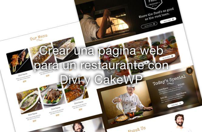 Crear una p gina web para un restaurante de forma facil for Crear restaurante