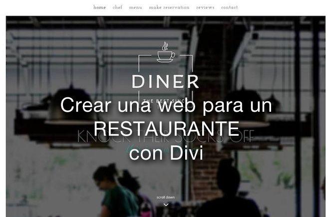 Crear una web para un restaurante con Divi