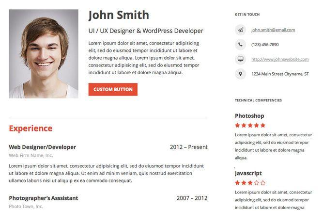 Crea tu curriculum online con WordPress