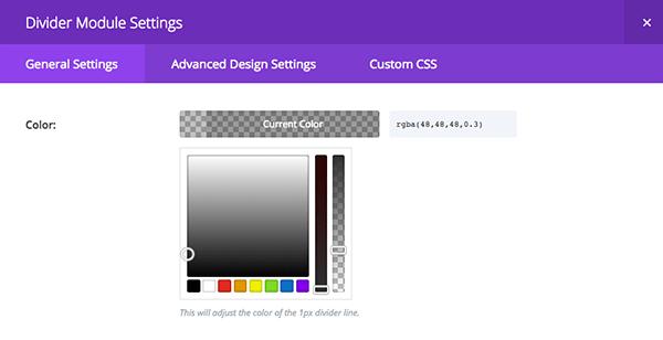 Divider Module color