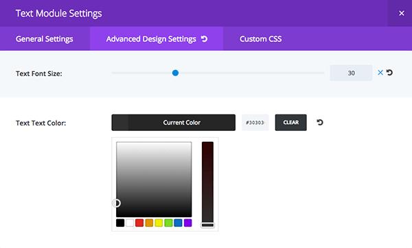 Text Module color