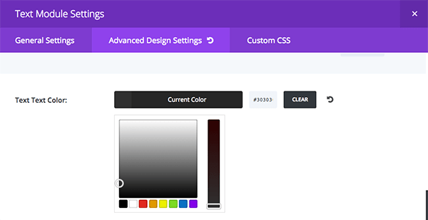 text module color change
