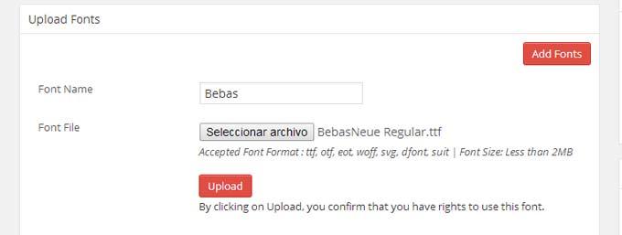 Utilizar cualquier tipografía en WordPress con Use Any Font
