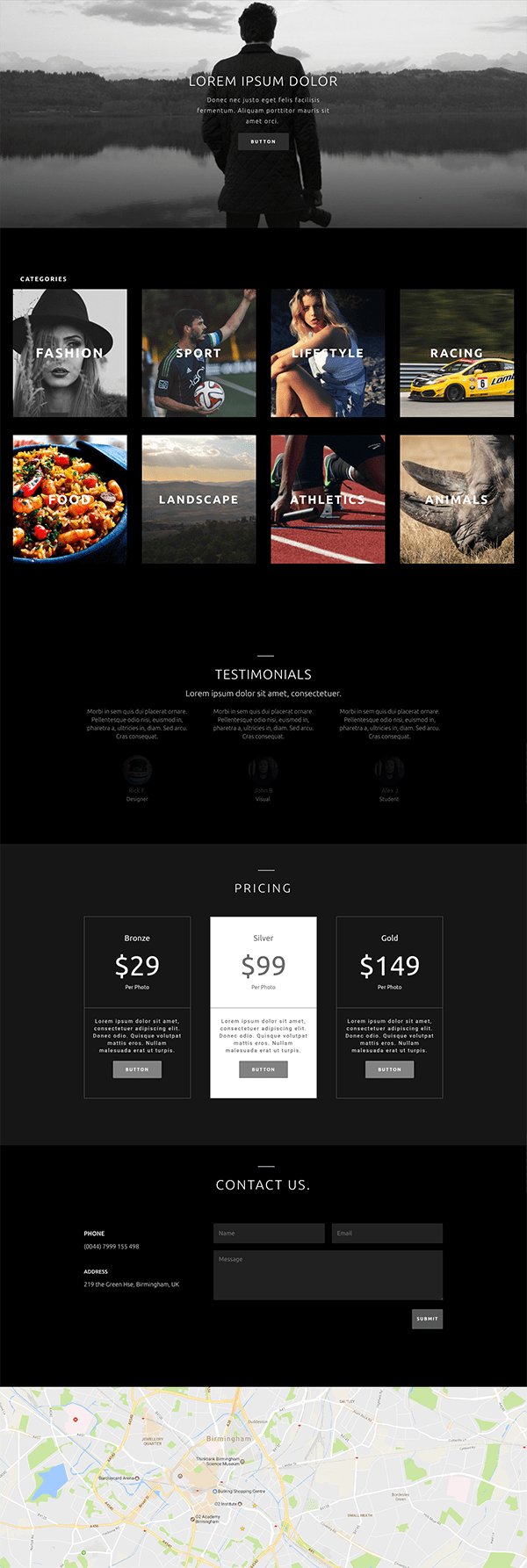 web para un fotografo con divi