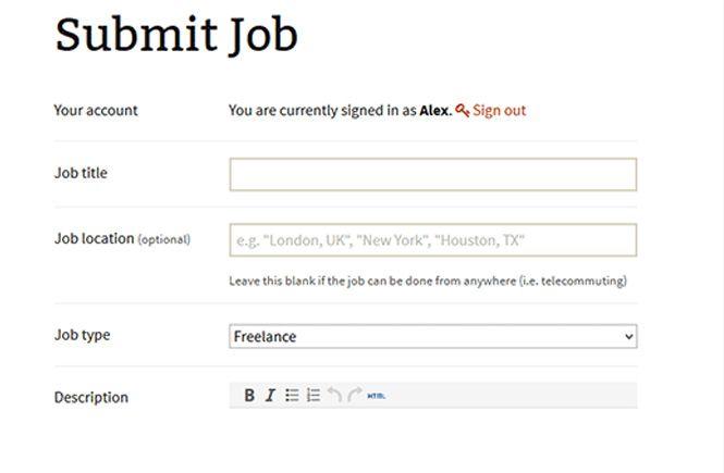 Añadir una nueva oferta de trabajo