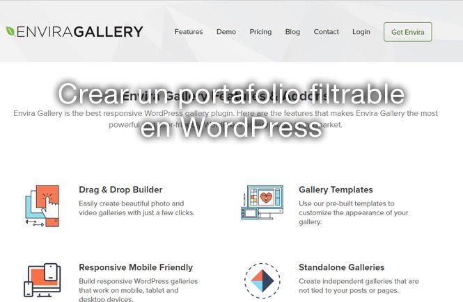 Crear un portafolio filtrable en WordPress