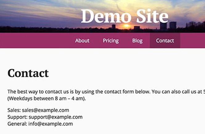 Como se ven las direcciones de correo electronico en el navegador