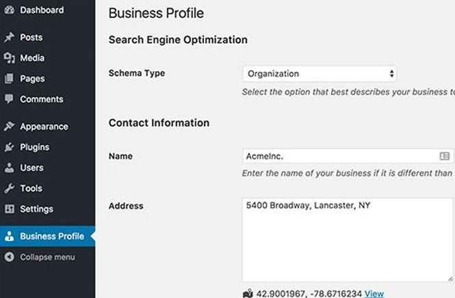 Nuevo Menú Business Profile