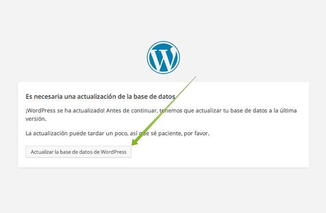 Actualiza la base de datos para volver a una versión anterior de WordPress