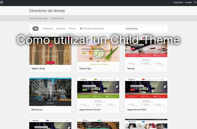 Cómo utilizar un Child Theme