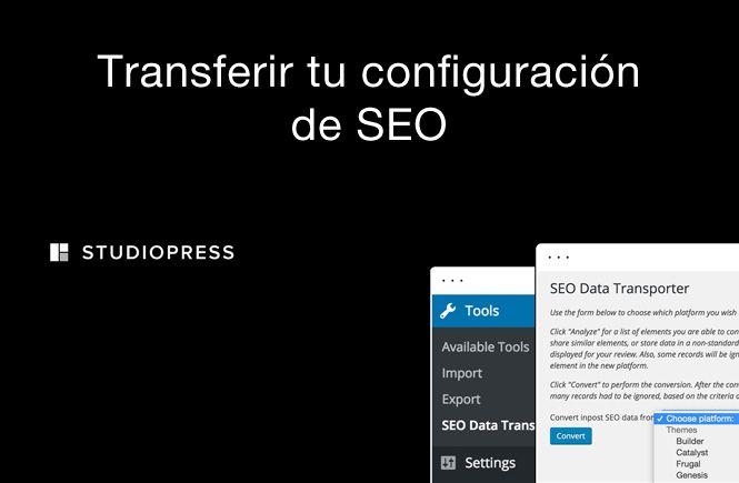 Transferir configuración de SEO