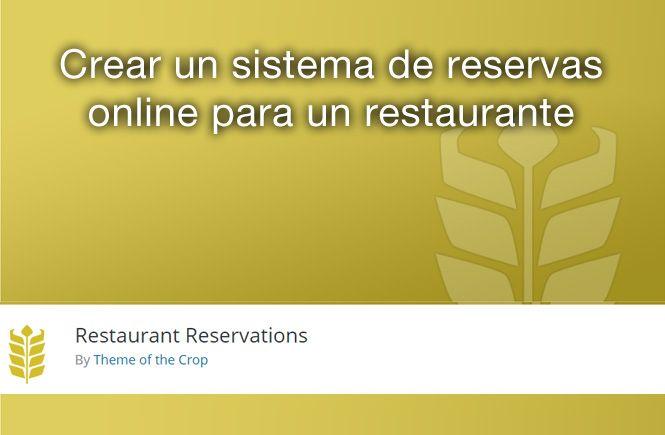 Crear un sistema de reservas online