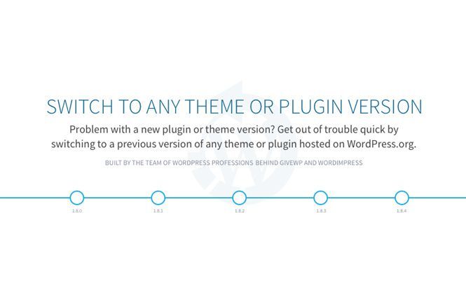 volver a una version anterior de wordpress con un plugin