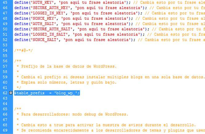 Prefijo para instalar varios wordpress en la misma base de datos