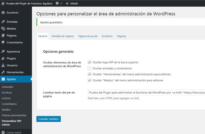 Cómo personalizar el escritorio de wordpress para tu cliente con un único plugin