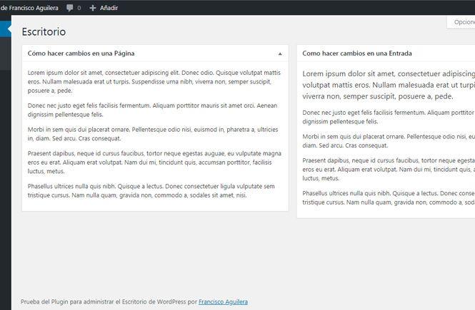 Crear widgets personalizados en el Escritorio