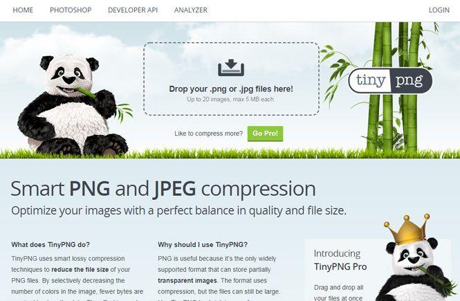 Optimiza tus imágenes con TinyPNG