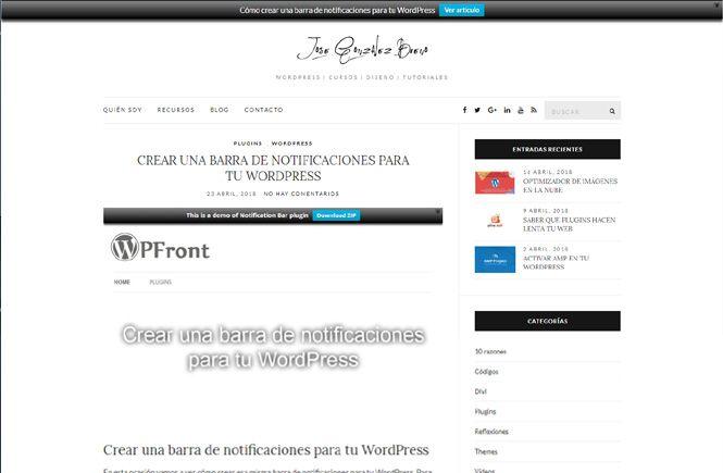 Cómo crear una barra de notificaciones con WPFront Notification Bar