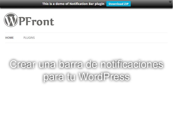 barra de notificaciones para tu WordPress