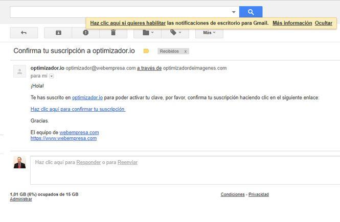 Email de webempresa