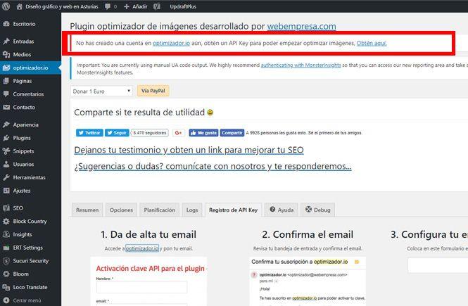 Obtener la API Key