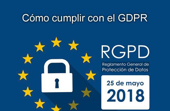cómo cumplir con la directiva europea de Protección de Datos