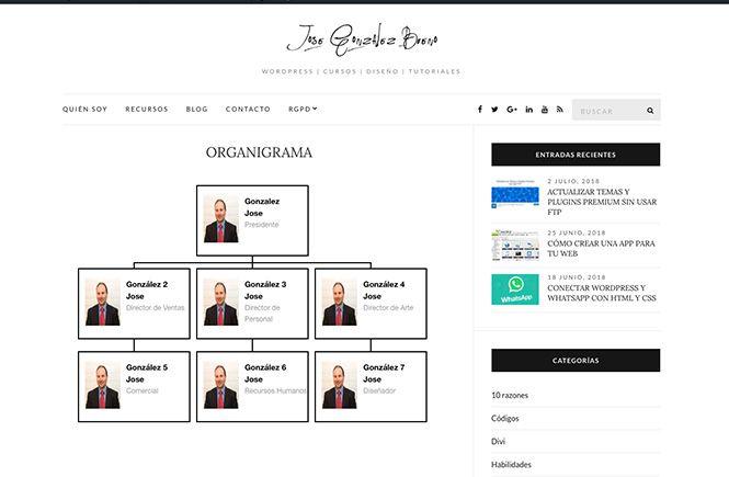 Crear un Organigrama para tu empresa - Diseño gráfico y web en Asturias