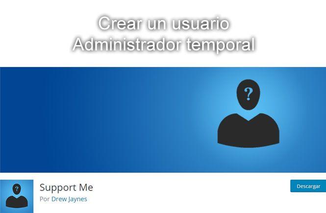 crear un usuario Administrador temporal