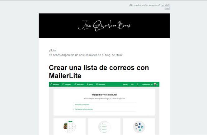 Crear envío automático de emails con Mailerlite