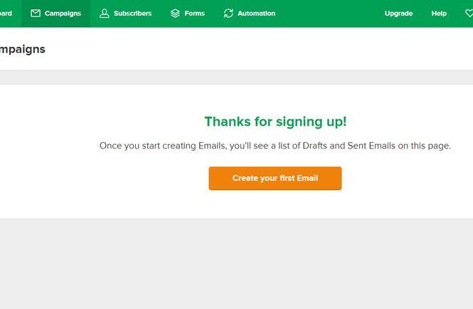 Crear una campaña nueva con Mailerlite