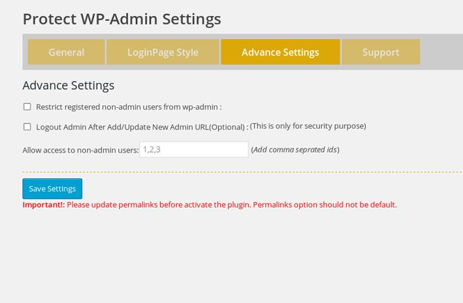 proteger el acceso al Escritorio con Protect Your Admin