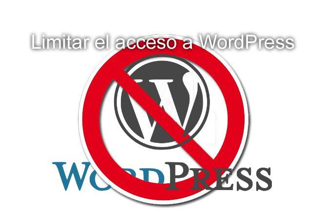 Limitar el acceso a nuestro WordPress