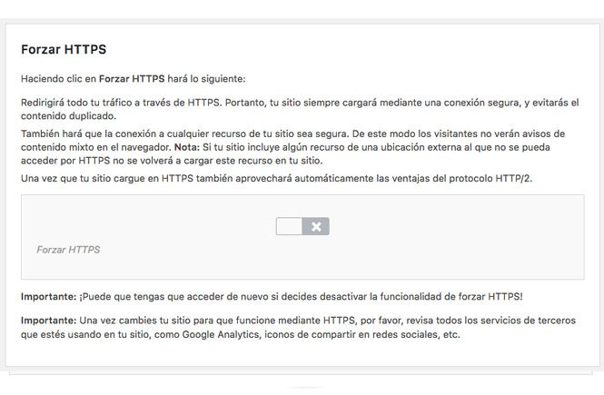 Forzar HTTPS en Siteground
