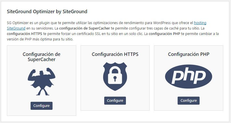 Qué hace Sitegorund Optimizer