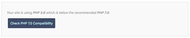 Ver la compatibilidad con PHP 7.0