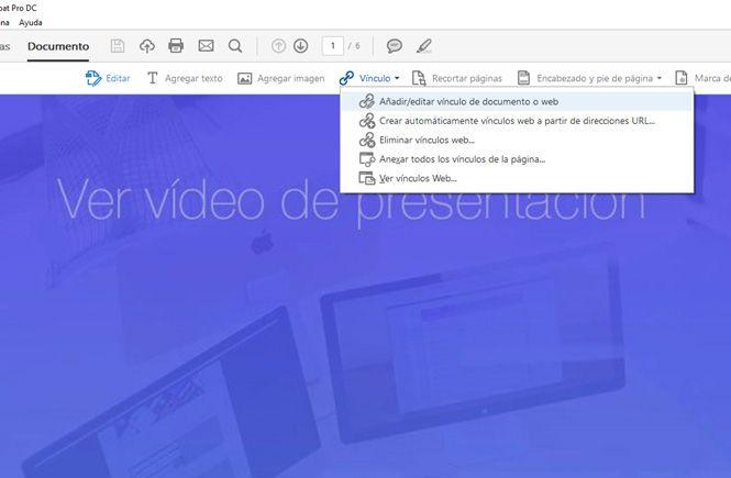 Añadir/Editar vínculo de documento o web