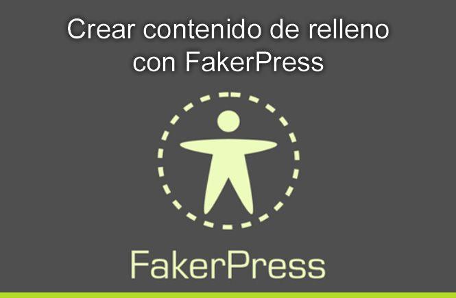 Contenido de relleno con FakerPress