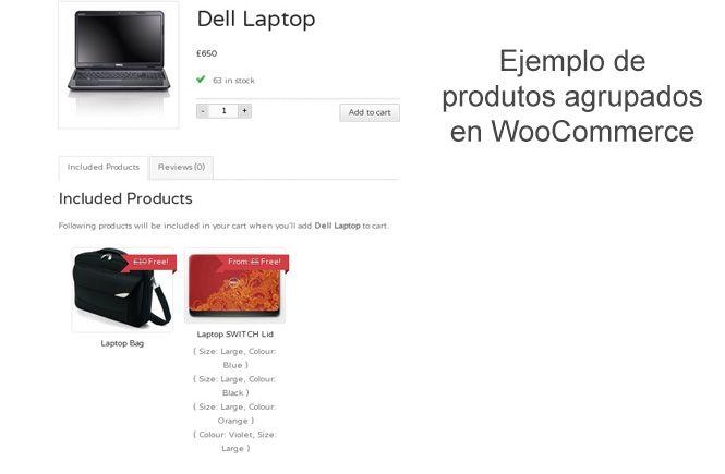 Productos agrupados en WooCommerce