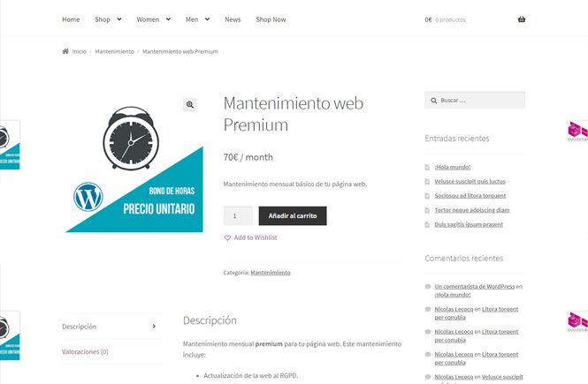 Productos virtuales en WooCommerce