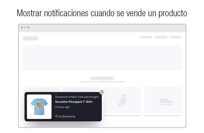 Mostrar notificaciones de las ventas en tu web