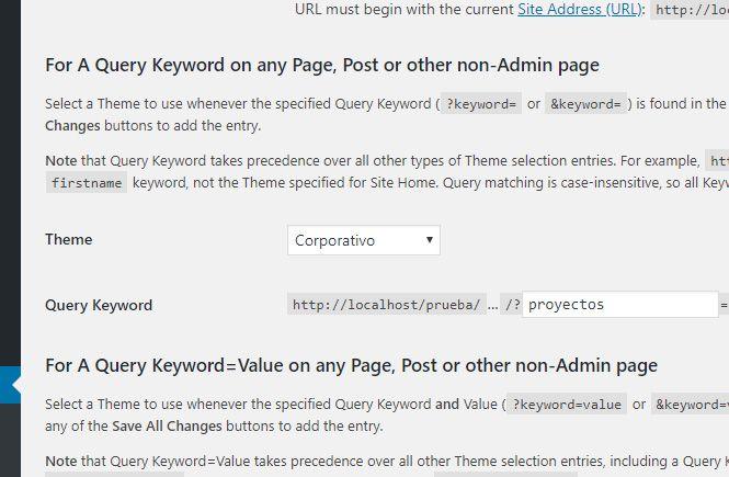 Tema aplicado a la URL que contenga la palabra proyectos