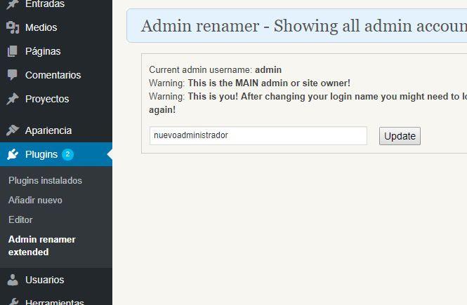 Cambiar el usuario Administrador con Admin renamer extended