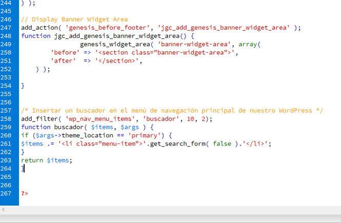 Código para colocar un buscador en el menú de navegación principal