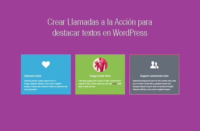 Crear textos destacados en WordPress