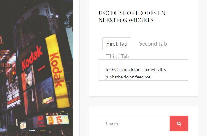 Cómo usar shortcodes en los widgets de nuestro WordPress