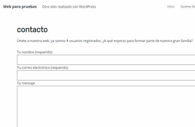 Shortcode para mostrar los usuarios registrados tiene tu web