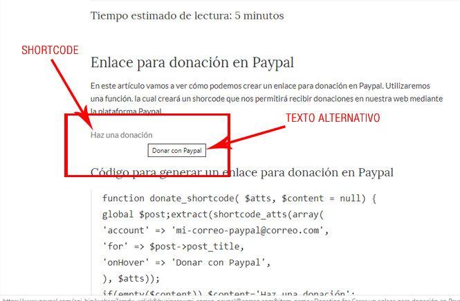 Crear un enlace para donación en Paypal