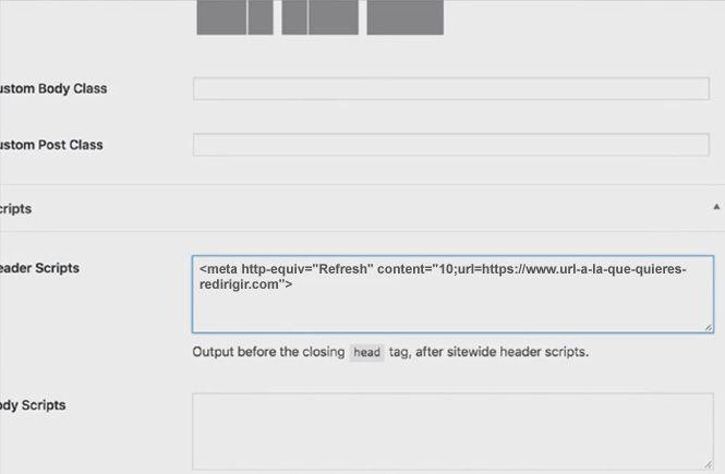 Cómo podemos redirigir a una página pasado un tiempo con Genesis Framework