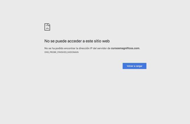 La web queda completamente inaccesible
